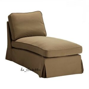 Image Is Loading Ikea Rp Chaise Cover Idemo Light Brown
