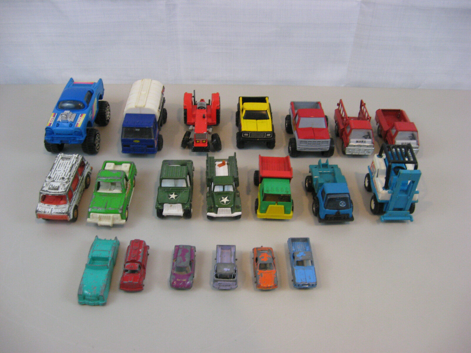 Lot Of 20 Vintage Buddy L-Tootsie Toys & Misc. Pressed Steel Die Cast Vehicles