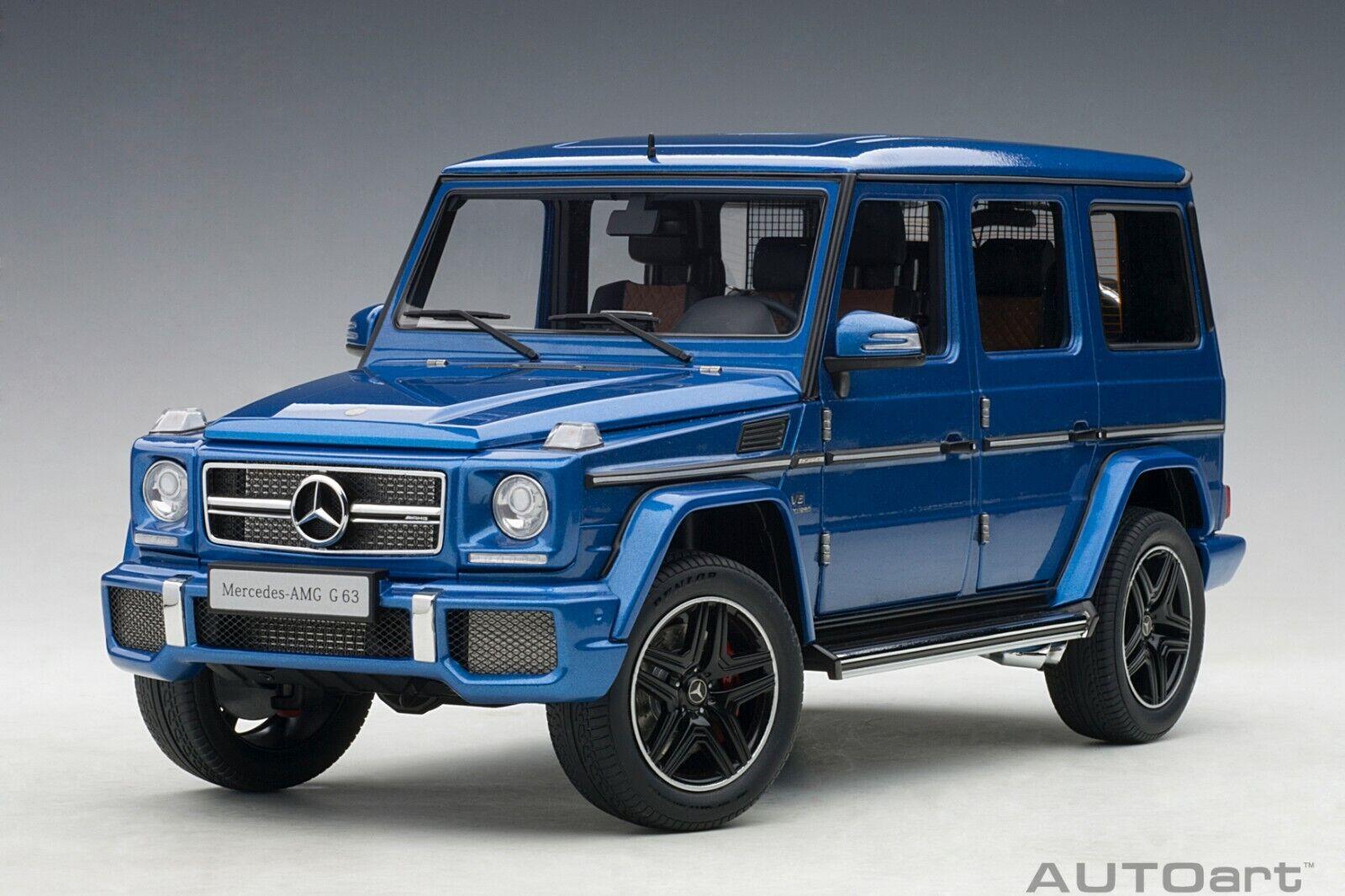Mercedes-Benz G63 AMG 50TH ANNIVERSAIRE Designo Maurice bleu 1 18 AUTOart 76324