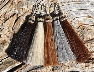 100-Horsehair-Zipper-Pull-Natural-Colors-3-034-Jacket-Backpack-Purse