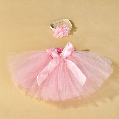 Neugeborenes Baby Mädchen Kleid Stirnband Tütü Kostüm Fotoshooting·PAL·