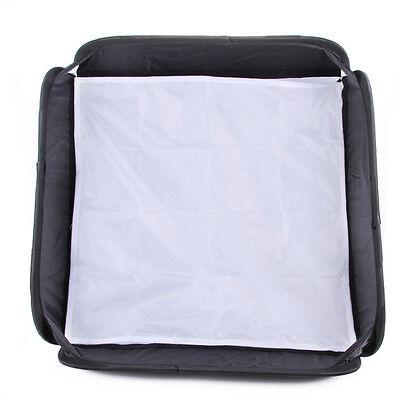"24"" 60cmx60cm Portable Softbox f flash Speedlite Bracket Bowens Elinchrom Mount"