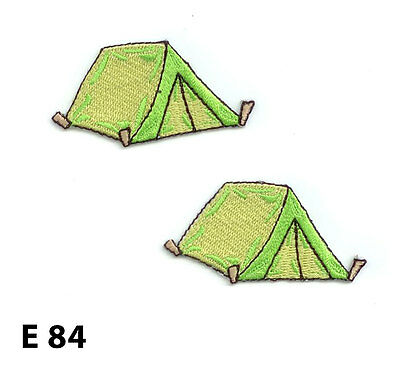 """Tent Applique Patch Iron on Camping Pup Tent Badge 2-3//4/"""" Backpacking"""