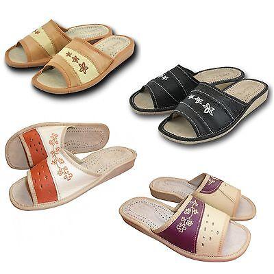 Señoras, las mujeres `s, Cuero Zapatillas, Zapatos Talla 3, 4, 5, 6.5, 7, 8