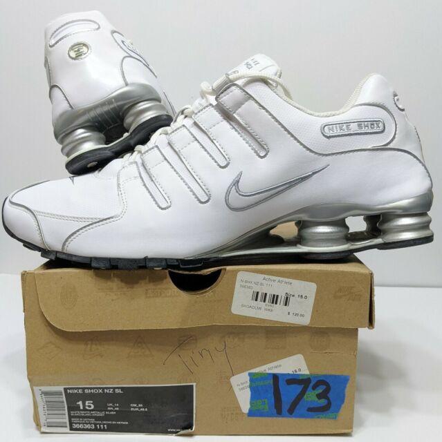 Size 11 - Nike Shox NZ SL White Metallic Silver