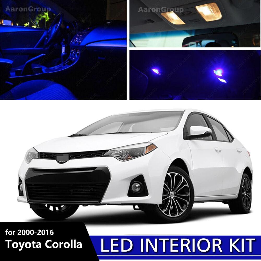 8pcs blue interior led bulbs 2000 2016 toyota corolla - 2016 toyota corolla interior colors ...