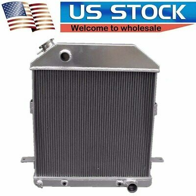 POLISHED STAMED ALUMINUM RADIATOR 3 ROWS FIT 58 CHEVY Bel Air Base Sedan 58