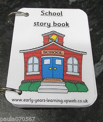 full colour ~ Autism ~ASD~SEN~ 10cm x 7cm NEW **Story Books**  School routine