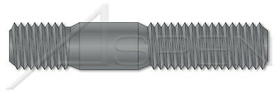 Screw-in End 1.25 X Diameter Grade 8 Steel DIN 939 25 pcs Metric Double-Ended Stud with Plain Center M8-1.25 X 65mm Plain