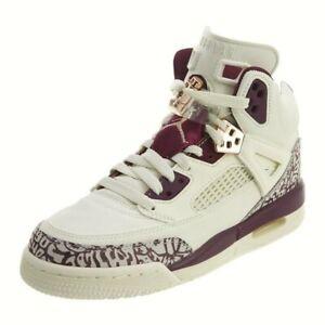 Details about Nike Air Jordan Spizike Bordeaux White Basketball Shoes 4Y Kids Boys Girls Youth