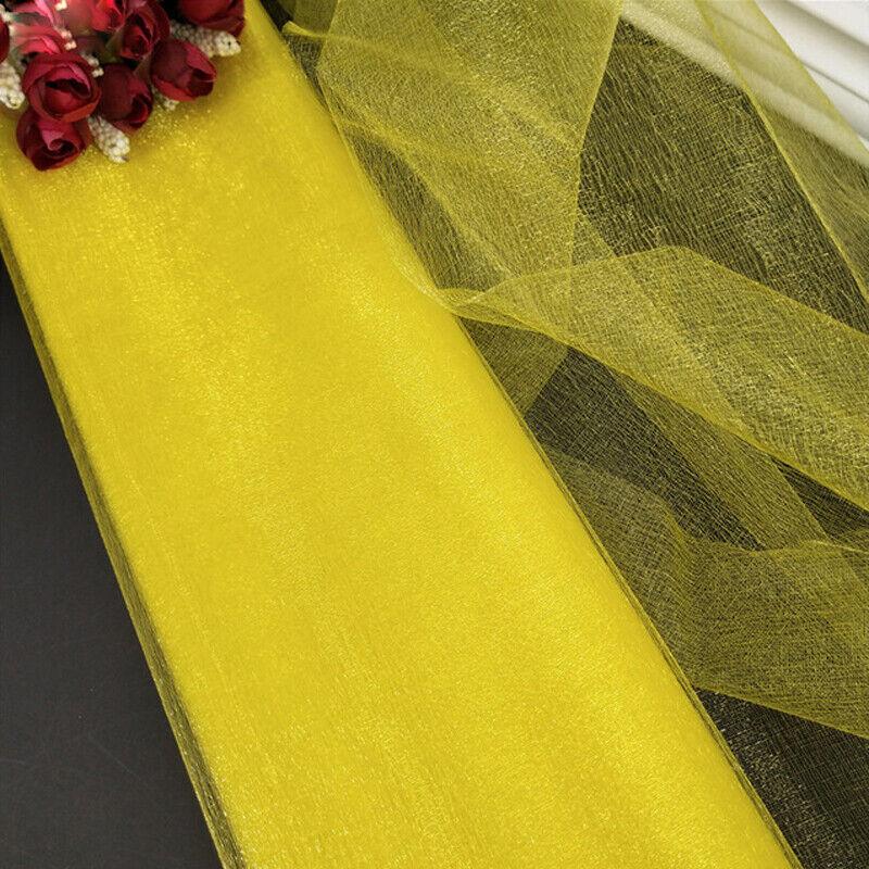 10M DIY Wedding Backdrop Organza Gauze Curtain Wedding Party Home Decor 11 Color