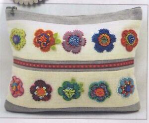 Pattern summer blooms bag applique embroidered bag pattern