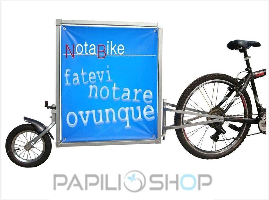NOTABIKE Remorque vélo pour la publicite trasport à de publicitaire afficher