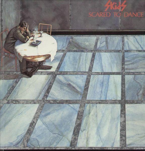 The Skids Scared To Dance EMBOSSED Virgin Vinyl LP