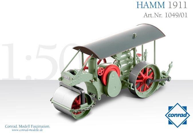 Conrad 1049-01 Hamm 3-Wheeled Historic Roller - 1911 Die-cast 1 50 Brand-new MIB