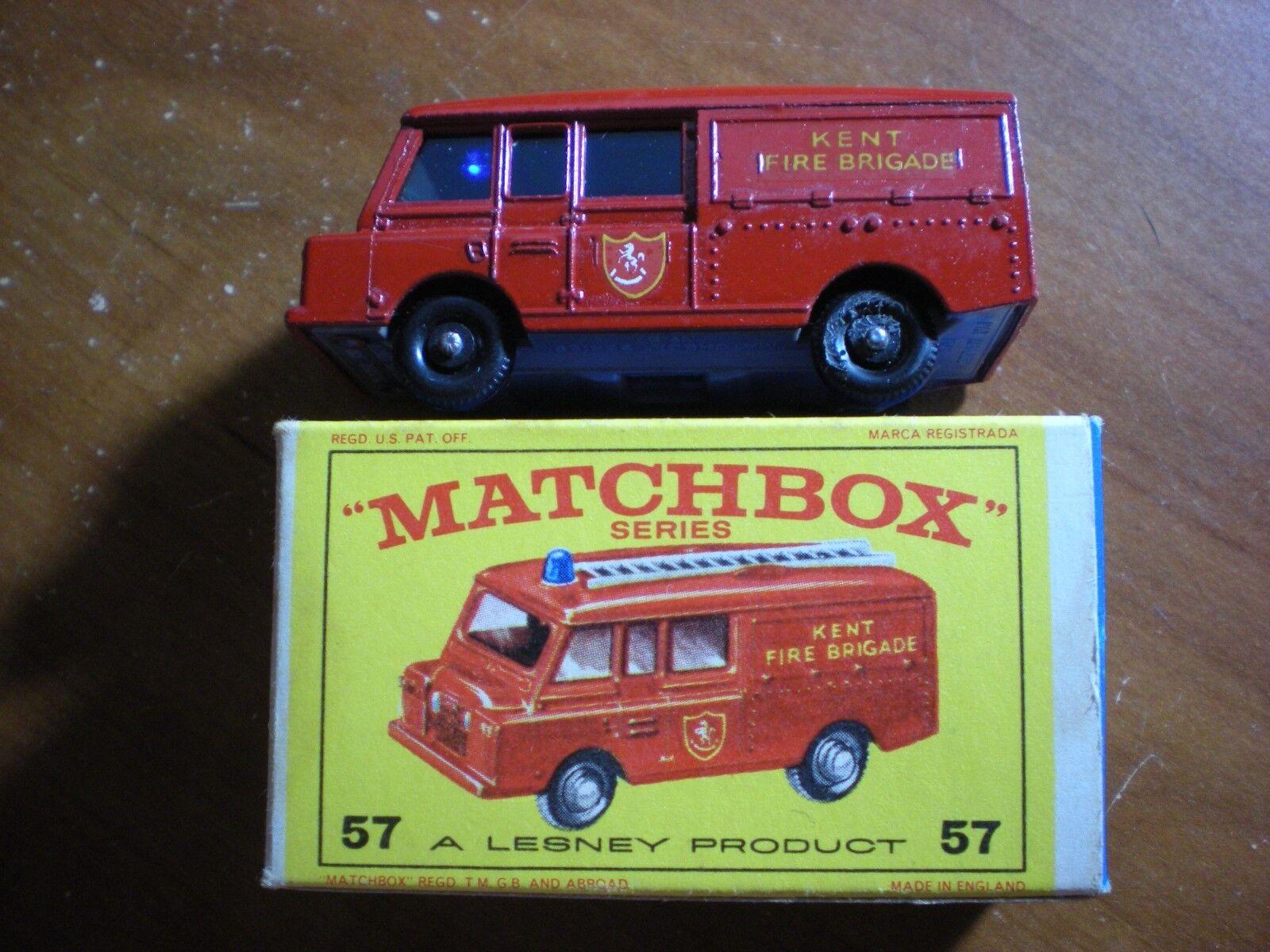 ventas calientes Nuevo Y En Caja Caja Caja Matchbox Series Nº 57 Kent Fire Brigade Land Rover Fire Truck  ventas en linea