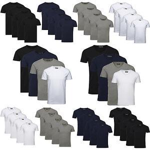 JACK-JONES-Herren-T-Shirt-Basic-4er-PACK-Marken-O-V-Neck-Tee-Maenner-S-M-L-XL-XXL
