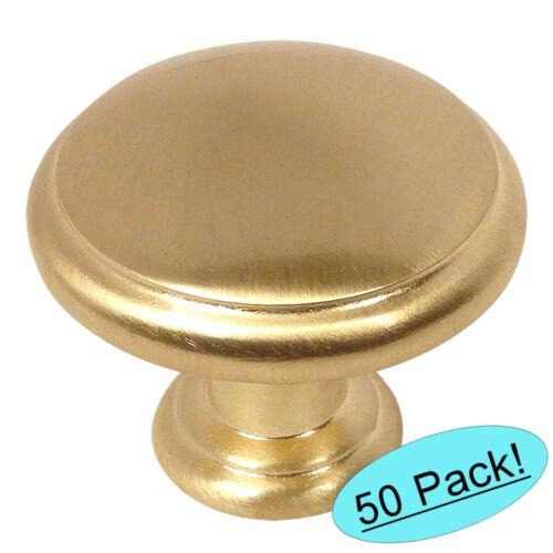 *50 Pack* Cosmas Cabinet Hardware Brushed Brass Mushroom Cabinet Knob #5422BB
