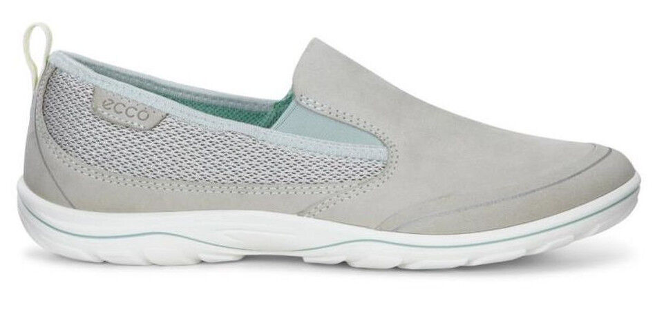NEW Ecco Arizona Sneaker Casual Slip On Loafer Green Sage Leather Women's Sz 41