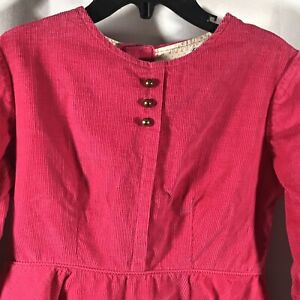 Cinderella-Girls-Corduroy-Dress-Pink-Vintage