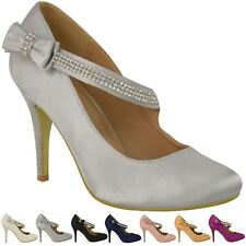 0263b55ef516c3 item 3 Womens Ladies Bridal Wedding Prom Party High Heel Classic Pumps  Shoes Size -Womens Ladies Bridal Wedding Prom Party High Heel Classic Pumps  Shoes ...