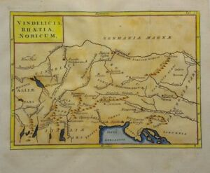 Antique Map Of North Italy And Austria By Christoph Cellarius 1764