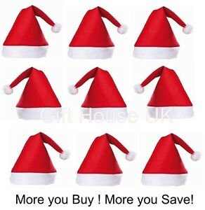Wholesale-Bulk-Christmas-Xmas-Party-Adult-Unisex-Father-Santa-Claus-Hat-Felt-UK