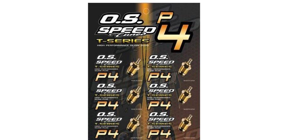 OS GLOW PLUG P4  24K gold TURBO  OFF-ROAD OS71642730(6PCS)