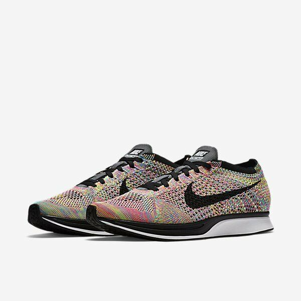 2018 Nike Flyknit Racer Multicolor Rainbow 3.0 526628-004 Comfortable The latest discount shoes for men and women