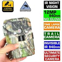 Trail Camera Hunting Farm Cam Waterproof Night Vision Time Lapse No Spy Hidden