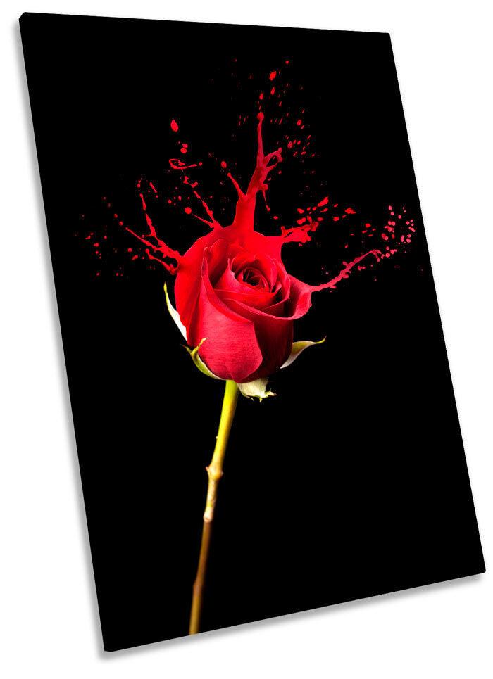 rosso rosa Paint Splash Splash Splash Rosso art. a muro foto ritratto stampa 413f58