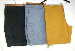 Lot-of-3-Mens-Foundry-Flex-Cargo-Shorts-Size-48-50-Cotton-Spandex