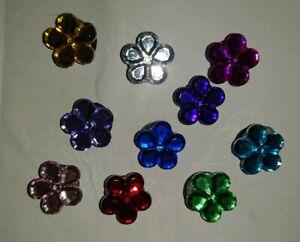 PINS-Charms-Flores-Cristal-Compatible-con-Zapatos-Crocs-amp-Pulseras-Jibbitz-Lot
