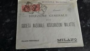 ITALY COVER MODENA TO MILAN 1894 STAMPS