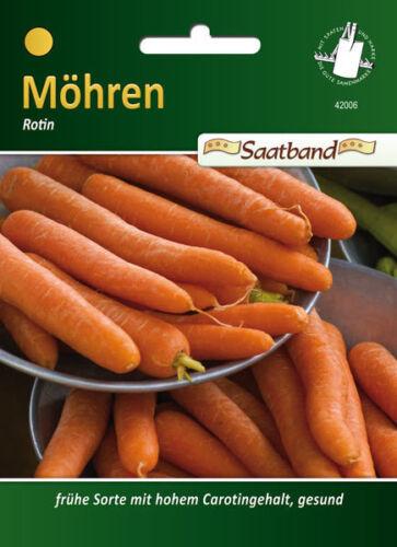 Saatband Karotten Mohrrüben Samen Daucus carota 42006 Möhren /'Rotin/'