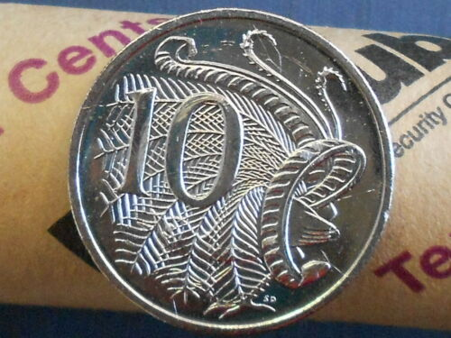 1 coin 2012 AUSTRALIAN 10c Ten Cent Uncirculated from Security Roll VERY SCARCE