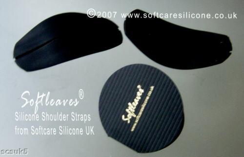 2 x Softleaves Silicon Shoulder Straps Stop Bra Slipping Non-slip Shoulder Pads
