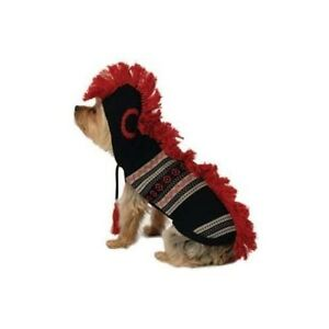 5298-Mohawk-Hooded-Hoodie-Dog-Sweater-Clothes-Choice-of-Red-or-Black