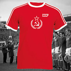 CCCP-Russian-Football-Soviet-Union-Double-Stripe-Ringer-USSR-Unisex-T-Shirt