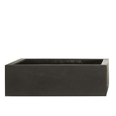 amei Stonefiber Pot quadratisch schwarz 42 x 42 cm, h 13 cm