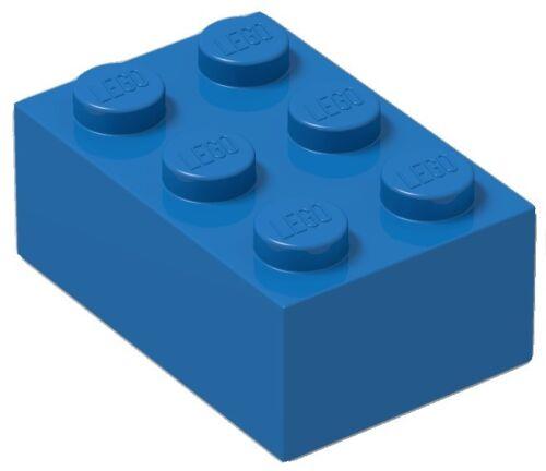 BULK Parts star wars city Sky Ocean ID 3002 ☀️100 NEW LEGO 2x3 BLUE Bricks