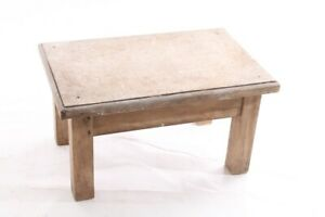 Old-GDR-Footrest-Hitsche-Retro-Design-Iconic-Chair-Stool-Seat-Step-Wood-Wooden