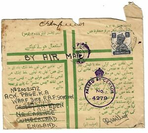 India-1943-Military-Censored-Cover-Lot-101517