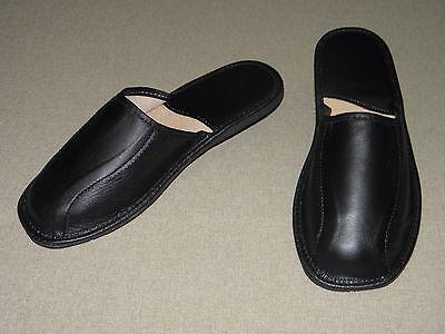 Herren Hausschuhe Pantoffeln Kalbsleder Gr. 44