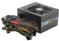 CORSAIR CX600 600W ATX12V v2.3 80 PLUS BRONZE PFC Power Supply New!