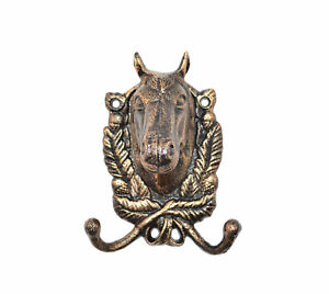 086k Antique Finish Rustic Horse Wall Mounted Hook