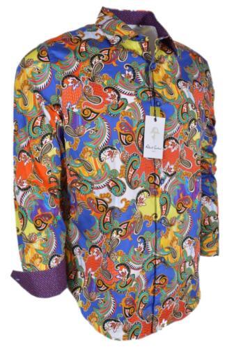 NEW Robert Graham $278 ACOSTA Paisley Cotton Classic Fit Sports Shirt