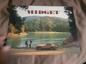 1976 MG Midget USA Market Roadster Color Original Brochure ...