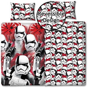 Star Wars The Last Jedi /'Trooper/' Single//Double Duvet Cover Reversible Bedding