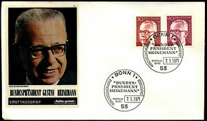 West-Germany-1971-30pf-90pf-President-Heinemann-FDC-First-Day-Cover-C35667